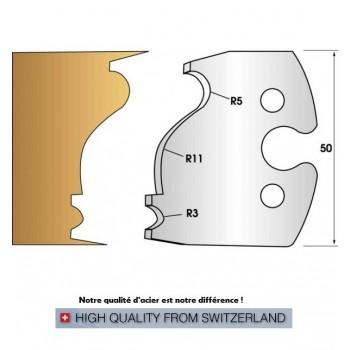 Jeu de 2 fers profiles hauteur  50X5.5 mm n° 247