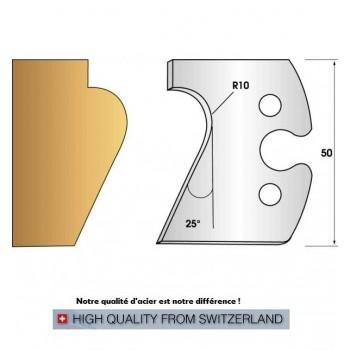 Jeu de 2 fers profiles hauteur  50X5.5 mm n° 248