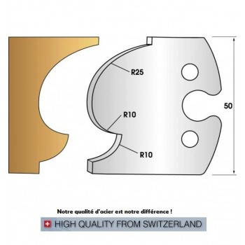 Jeu de 2 fers profiles hauteur  50X5.5 mm n° 249
