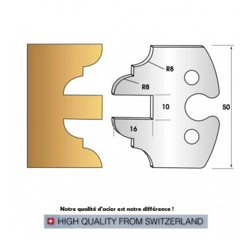 Jeu de 2 fers profiles hauteur  50X5.5 mm n° 250