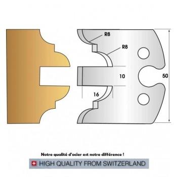 Jeu de 2 fers profiles hauteur  50X5.5 mm n° 251
