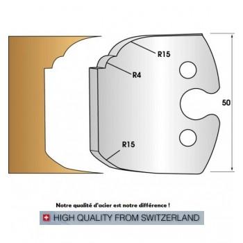 Paire de fers de toupie hauteur 50 mm n° 252 - double plate-bande