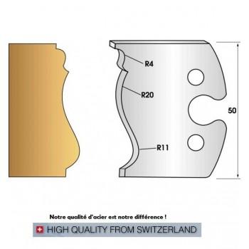 Jeu de 2 fers profiles hauteur  50X5.5 mm n° 254