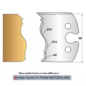 Jeu de 2 fers profiles hauteur  50X5.5 mm n° 255