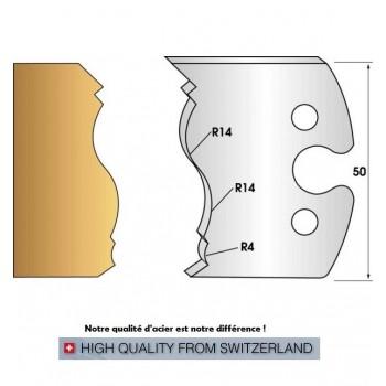 Paire de fers de toupie hauteur 50 mm n° 255 - moulure Louis XIII