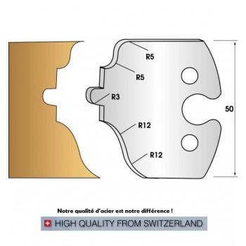 Jeu de 2 fers profiles hauteur  50X5.5 mm n° 256