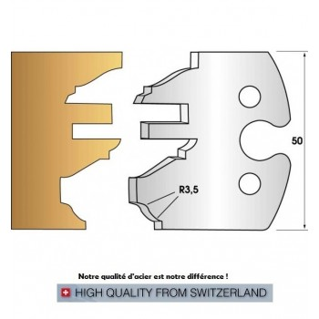 Jeu de 2 fers profiles hauteur  50X5.5 mm n° 258