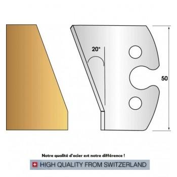 Jeu de 2 fers profiles hauteur  50X5.5 mm n° 259