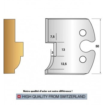 Jeu de 2 fers profiles hauteur  50X5.5 mm n° 263