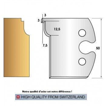 Jeu de 2 fers profiles hauteur  50X5.5 mm n° 264