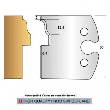 Jeu de 2 fers profiles hauteur  50X5.5 mm n° 265