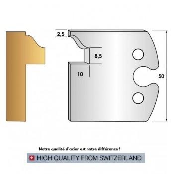 Jeu de 2 fers profiles hauteur  50X5.5 mm n° 266