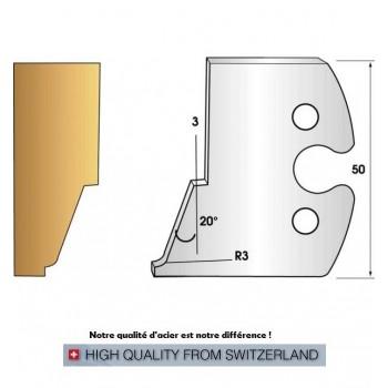 Jeu de 2 fers profiles hauteur  50X5.5 mm n° 267