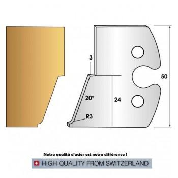 Paire de fers de toupie hauteur 50 mm n° 268 - pente douce