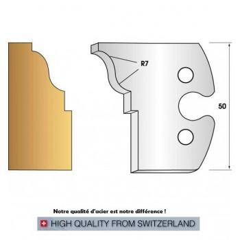 Jeu de 2 fers profiles hauteur  50X5.5 mm n° 274
