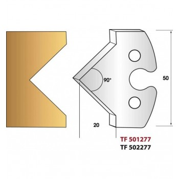 Jeu de 2 fers profiles hauteur  50X5.5 mm n° 277