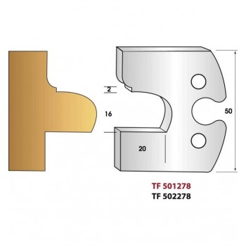 Jeu de 2 fers profiles hauteur  50X5.5 mm n° 278