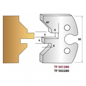 Jeu de 2 fers profiles hauteur  50X5.5 mm n° 280