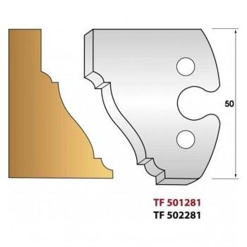 Jeu de 2 fers profiles hauteur  50X5.5 mm n° 281