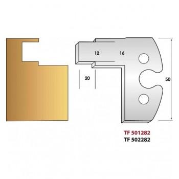 Jeu de 2 fers profiles hauteur  50X5.5 mm n° 282