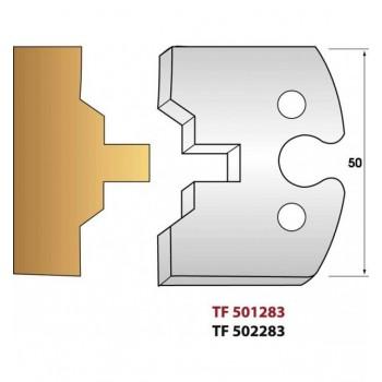 Jeu de 2 fers profiles hauteur  50X5.5 mm n° 283