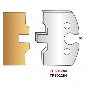 Jeu de 2 fers profiles hauteur  50X5.5 mm n° 284