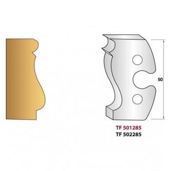 Jeu de 2 fers profiles hauteur  50X5.5 mm n° 285