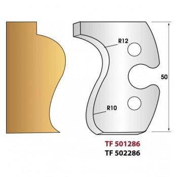 Paire de fers de toupie hauteur 50 mm n° 286 - main courante