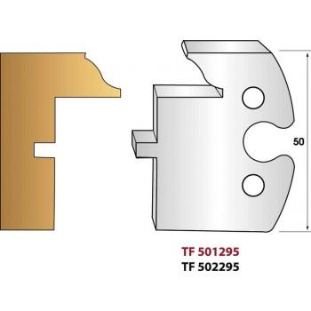 Paire de fers de toupie hauteur 50 mm n° 295 - Profilage intérieur dormant profil doucine