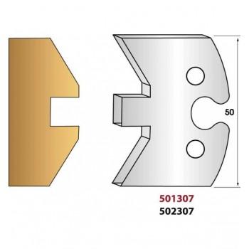 Paire de fers de toupie hauteur 50 mm n° 307 - simple languette