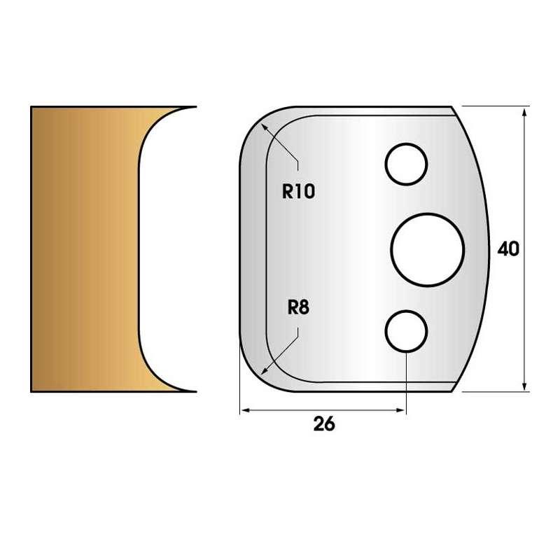 Jeu de 2 fers profiles hauteur  40X4 mm n° 03