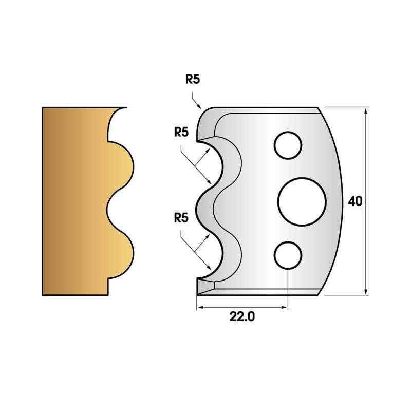 Jeu de 2 fers profiles hauteur  40X4 mm n° 06