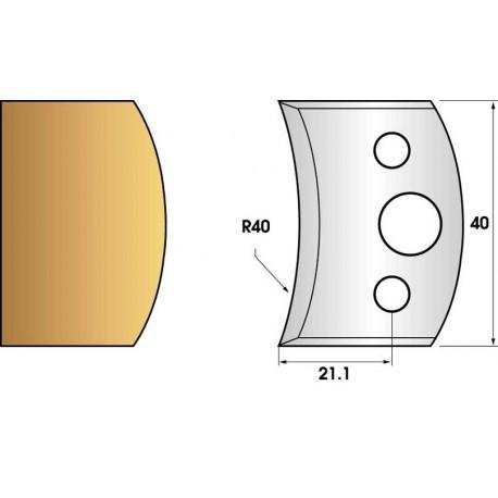 Jeu de 2 fers profiles hauteur  40X4 mm n° 08