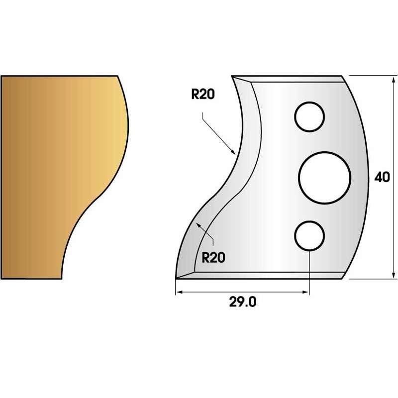 Jeu de 2 fers profiles hauteur  40X4 mm n° 09