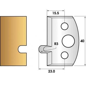 Paire de fers de toupie hauteur 40 n° 10 - Rainure à joint