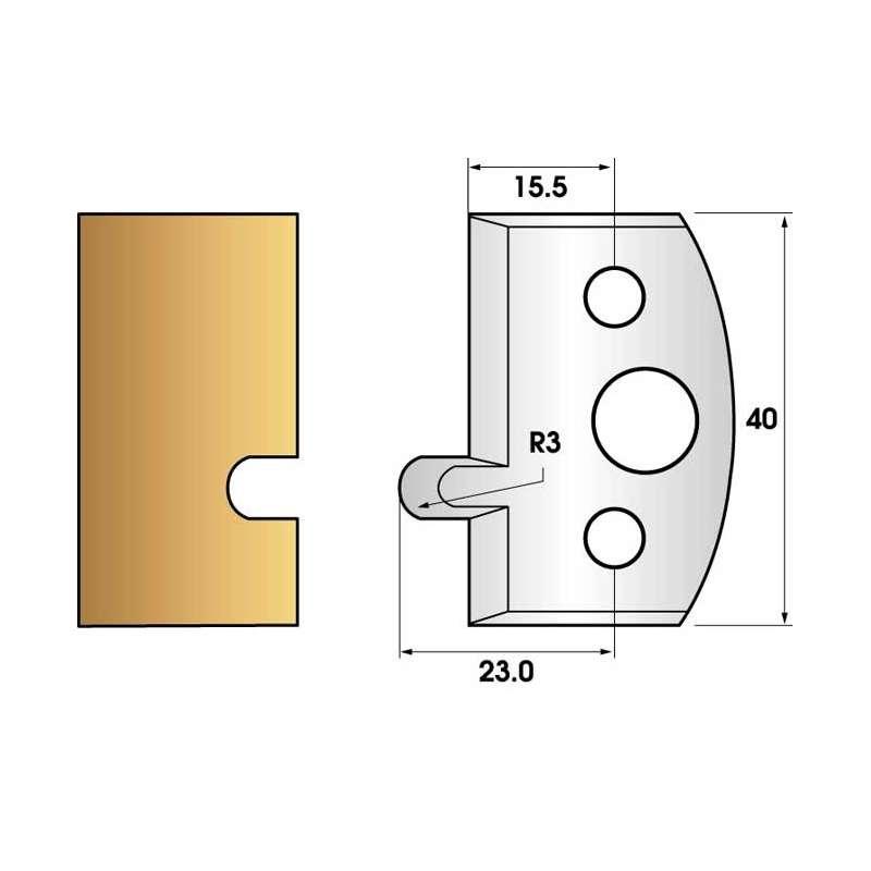 Jeu de 2 fers profiles hauteur  40X4 mm n° 10