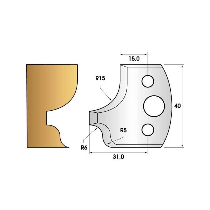 Jeu de 2 fers profiles hauteur  40X4 mm n° 11