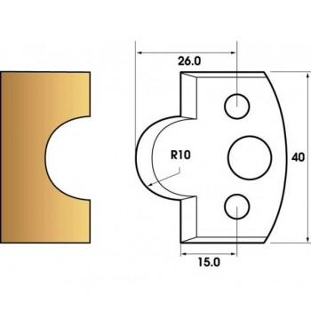 Jeu de 2 fers profiles hauteur  40X4 mm n° 14