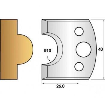 Jeu de 2 fers profiles hauteur  40X4 mm n° 15
