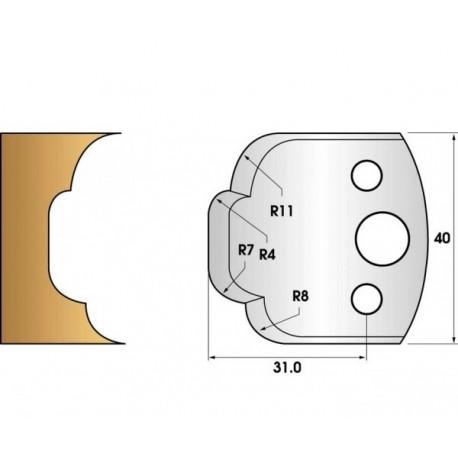 Paire de fers de toupie hauteur 40 n° 23 - multi-congés