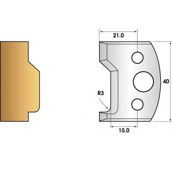 Paire de fers de toupie hauteur 40 n° 32 - moulure moderne