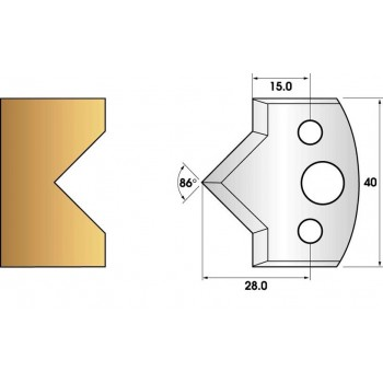 Jeu de 2 fers profiles hauteur  40X4 mm n° 35