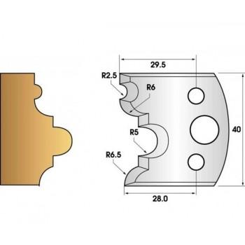 Jeu de 2 fers profiles hauteur  40X4 mm n° 36