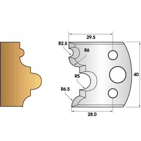 Paire de fers de toupie hauteur 40 n° 36 - astragale