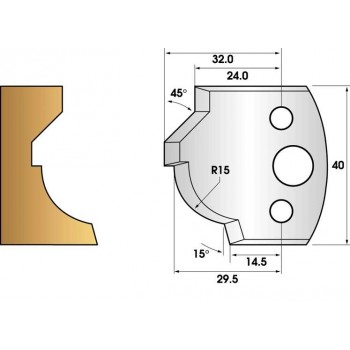 Jeu de 2 fers profiles hauteur  40X4 mm n° 37