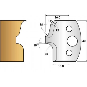 Jeu de 2 fers profiles hauteur  40X4 mm n° 41