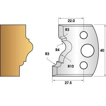 Paire de fers de toupie hauteur 40 n° 102 - moulure cadre