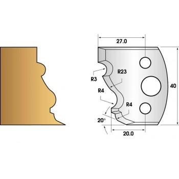 Jeu de 2 fers profiles hauteur  40X4 mm n° 103