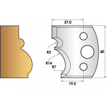 Jeu de 2 fers profiles hauteur  40X4 mm n° 105