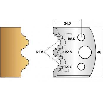 Jeu de 2 fers profiles hauteur  40X4 mm n° 108